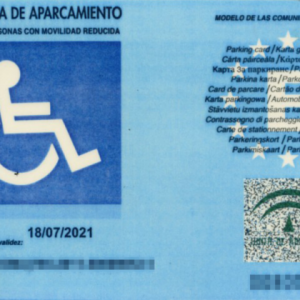 La puta tarjeta de movilidad
